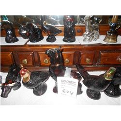 COLLECTION OF WILDLIFE AVON BOTTLES WITH COLOGNE