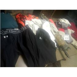 LOT OF SHIRTS, SOCKS, GLOVES AND UNDER