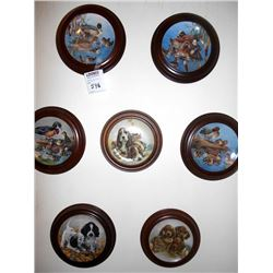 7 PUPPY AND DUCK PLATES/PLAQUES/NUMBERED