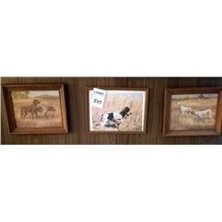 LOT OF 3 DOG PICTURES