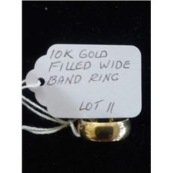 BUNDLE JEWELRY LOT: 10K GOLD FILLED WIRE BAND RING / STERLING SILVER EARRINGS