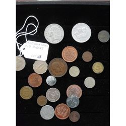 LOT OF MISC. FOREIGN COINS AND TOKENS