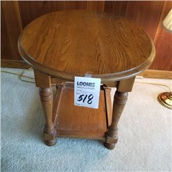 BEAUTIFUL OVAL TOP END TABLE