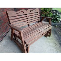 WOOD GLIDER PORCH SWING