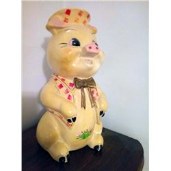 Vintage Large Pig Bank / Signed