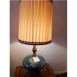 Beautiful Mid Century Glass (blown ) Large Lamp