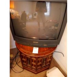 SHARP TELEVISION AND STORAGE STAND