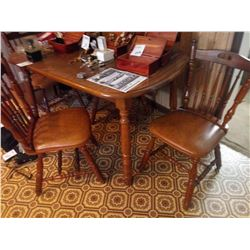 VIRGINIA HOUSE SOLID OAK 5 PC KITCHEN DINING SET