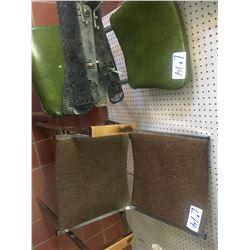 Antique Double Pedestal Oak Desk plus 5 Misc. chairs