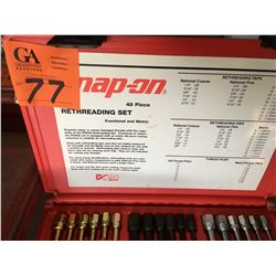 Newer Snap On 48pc thread restoring set, Fast Trac Snap On trouble shooter books, snap on bolt grip
