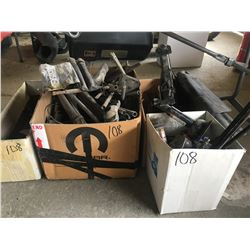 Asst'd jacks for vehicles plus box w/tire wrenches