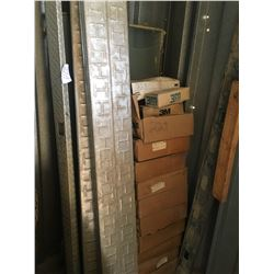 Approx 10 boxes of abrasive belts & 6 aluminum