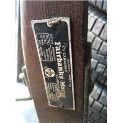 1 antique Fairbanks morse oak wood framed dolly