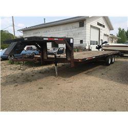 29' Gooseneck trailer w/5th wheel hitch, 5 bolt wheels SN#SK400734238
