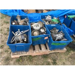 5 misc. boxes parts including air conditioning, Dodge starters, fans, alternators