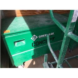 (in large trailer) Greenlee tool chest on wheels w/misc. coil plus snake line