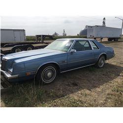 1981 (Frank Sinatra Edition) Chrysler Imperial, 2 DR, Auto, Blue, Radio & Cassette w/keys