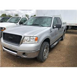 2007 Ford F150 XLT 5.4 Trinitron Grey Full Load, A,PS,PB,PW, 4x4 short box w/headache rack