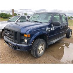 2006 Ford F250 3/4 Ton, Super Duty, 5.4 Triton, Navy, Cabin Chassis, 4x4, mileage 220092kms