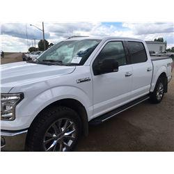 2016 Ford F150 XTR, 5.0 LTR, 4x4, AC, Full load, white, quad cab w/tonneau cover, mileage 62368kms