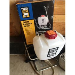 2 - 15 Ltr Back Pack Sprayer (Power Fist) - one is brand new