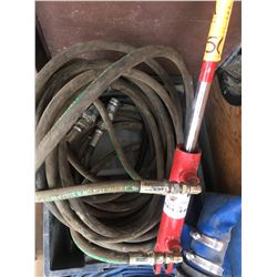 Large quantity of hydraulic hose w/couplers & rubber hose for banjo pump