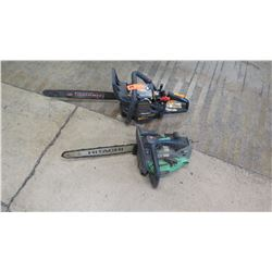 Qty 2 Chainsaws (missing parts)