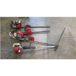 Qty 4 Hedge Trimmers (missing parts)