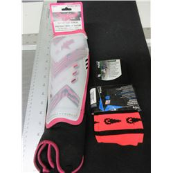New Adult Soccer Shin Pads and 1 Pair of Socks