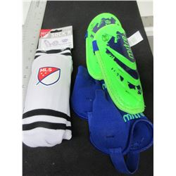 2 New pairs of Youth Soccer Shin Pads
