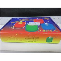 Box of 24 LED Smokeless Candles / 1 is missing the top
