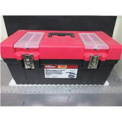"Hyper Tough 22"" Toolbox with tray / top by handle has been repaired/glued"