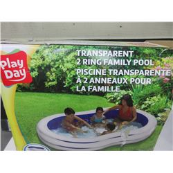 "Play Day 2 ring family Pool / 100"" x 58"" / open box untested"