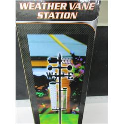 New Weathervane Station  / rain gauge , thermometer and more , 5 functions