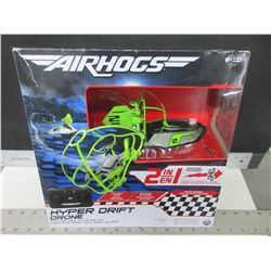 New Air Hogs 2 in 1 Hyper Drift Drone / race on land or fly in the sky
