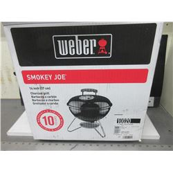 "New Weber Smokey Joe Charcoal Grill BBQ / 14"" Stainlees Steel Grill"