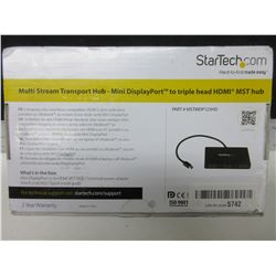 New StarTech.com Multi stream Transport Hub- mini display port to tripple
