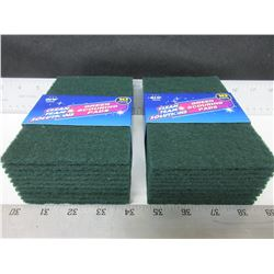 20 New Green Scouring Pads / perfect for tough cleaning jobs