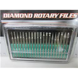 New 20 piece Diamond Rotary Files /  1/8 collet