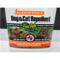 Liquid Fence Dog & Cat Repellant / Eco Safe / keep cats out of flowerbeds