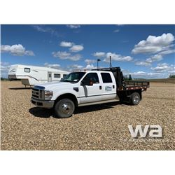 2010 FORD F350 CREWCAB FLATBED TRUCK