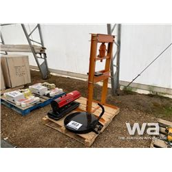 20 TON SHOP PRESS, HEATER