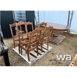 PEDESTAL TABLE TABLE & 6 CHAIRS