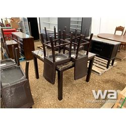 EXPRESSO GATHERING HEIGHT TABLE & 4 CHAIRS