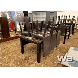 EXPRESSO DINING ROOM TABLE & 6 CHAIRS