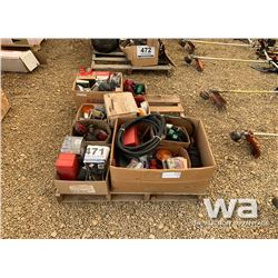 (3) BOXES OF LIGHTS AND ELECTRICAL