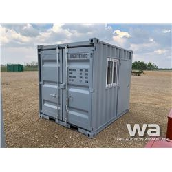 9 FT. STEEL STORAGE CONTAINER