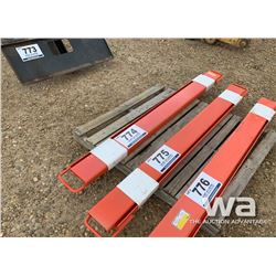 72'' FORKLIFT EXTENSIONS