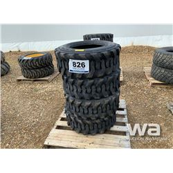 (4) 12X16.5 12 PLY SKID STEER TIRES