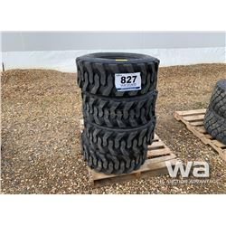 (4) MARCHER 12-16.5 SKID STEER TIRES